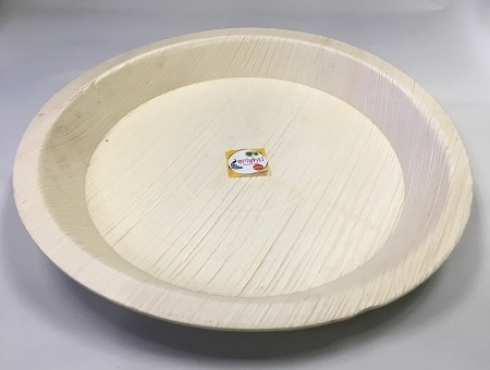 CSA-Palm Leaf Round Plate -9 Inch