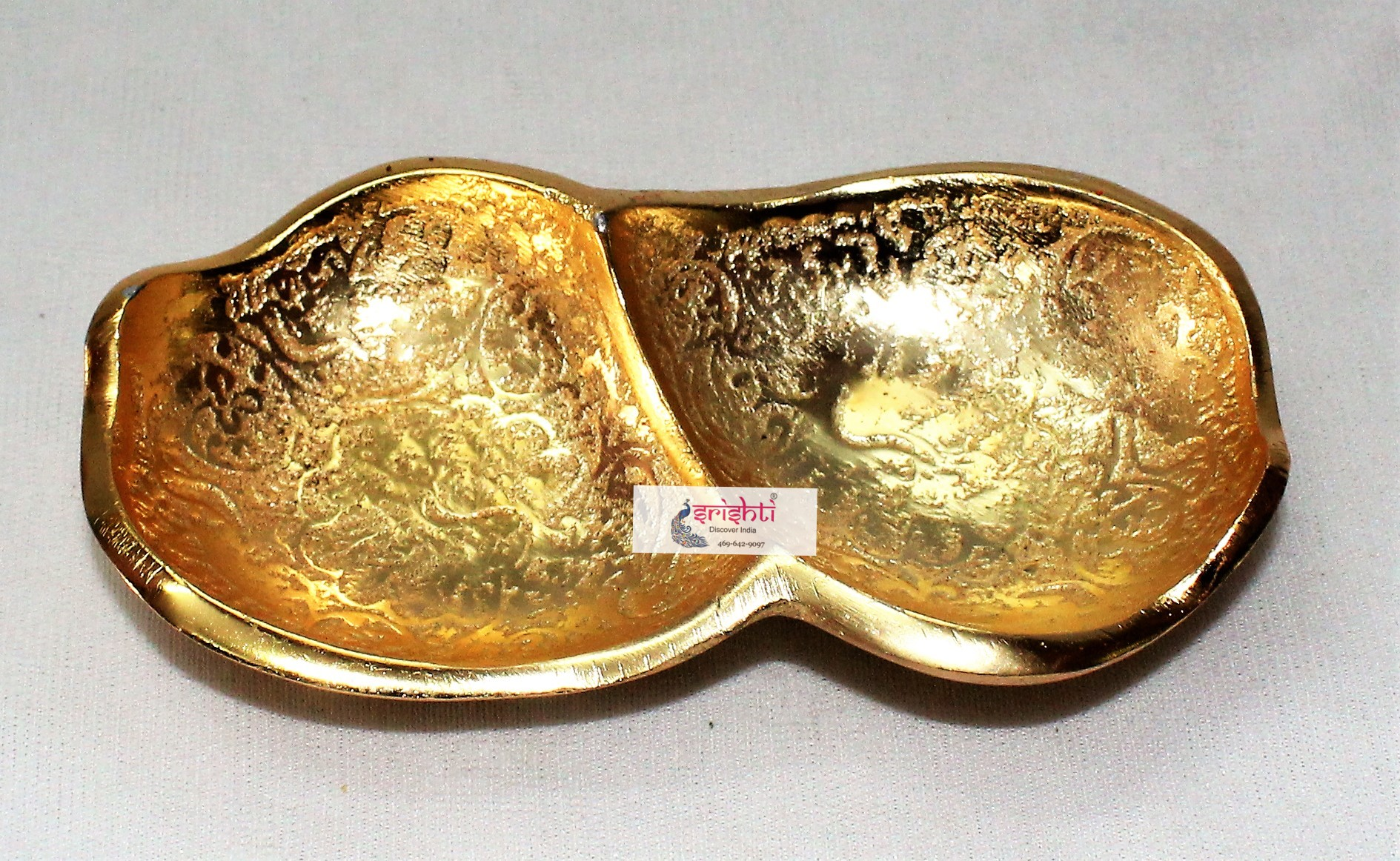 SKS Gold Double Leaf Shape Plate