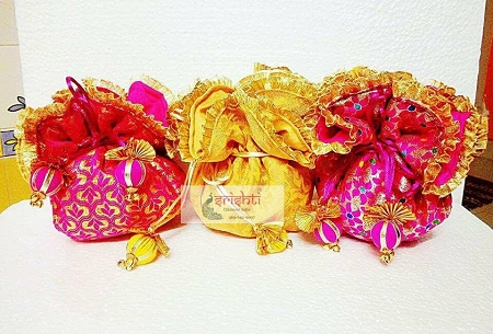 Assorted Colours Fancy Potli Bags   USA & CANADA