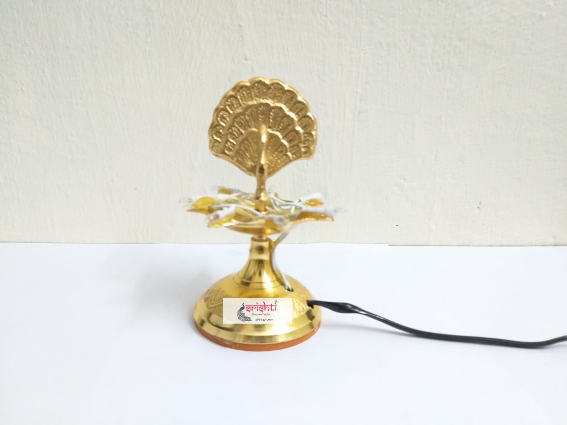 SIBD-Brass Single Layer Electric Diya
