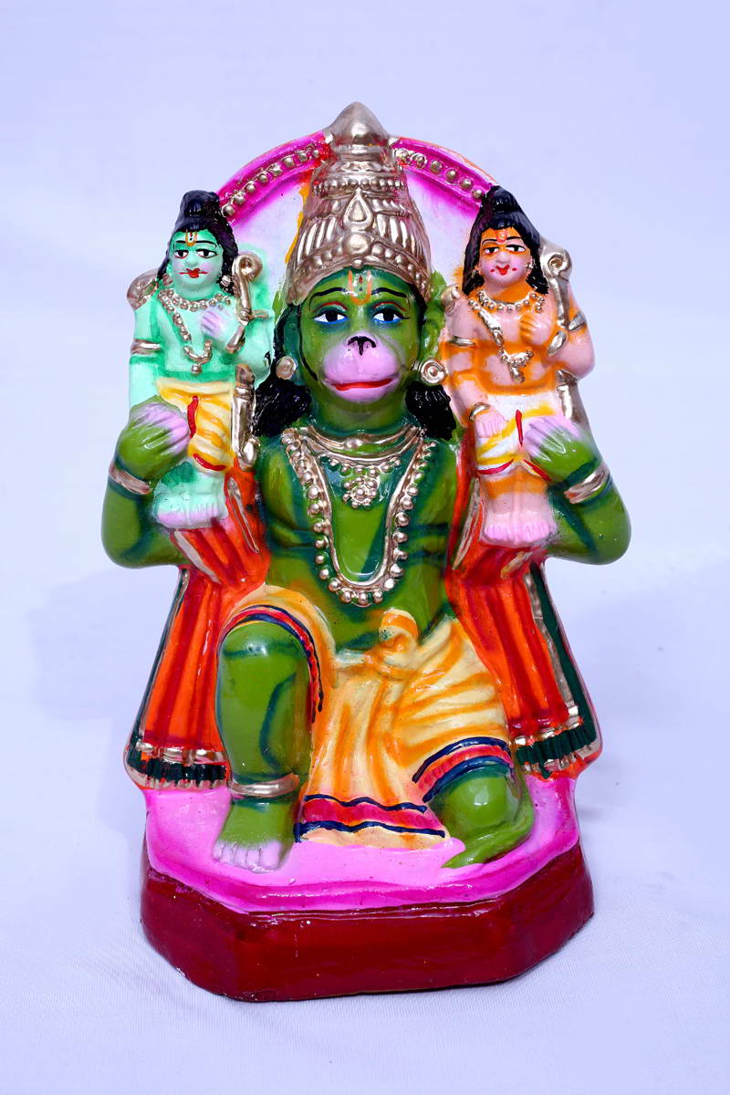 Ram Lakshman and Hanuman -sitting