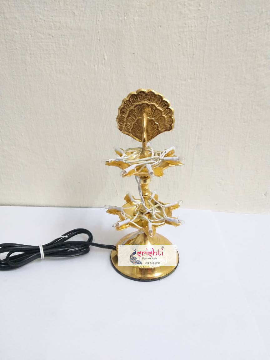 SIBD-Brass Two Layer Electric Diya