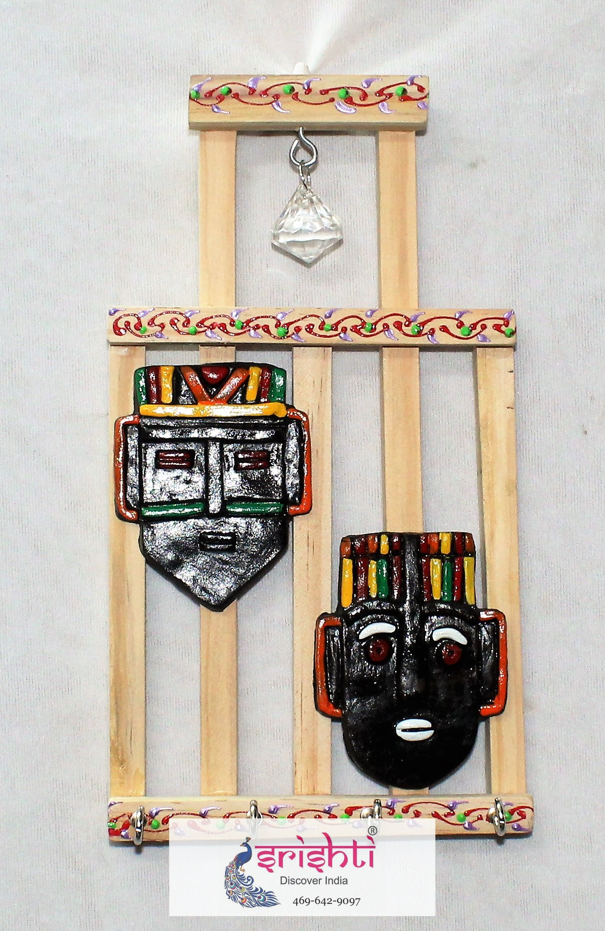 SMHD-Wooden Key Holder with 2 Face