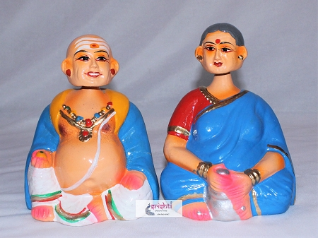 Chettiyar Chettichi Set -Head Nodding-7 Inches USA & CANADA