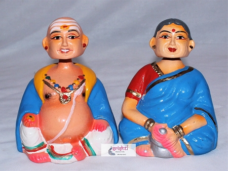 Chettiyar Chettichi Set -Head Nodding- 5.5 Inches USA & CANADA