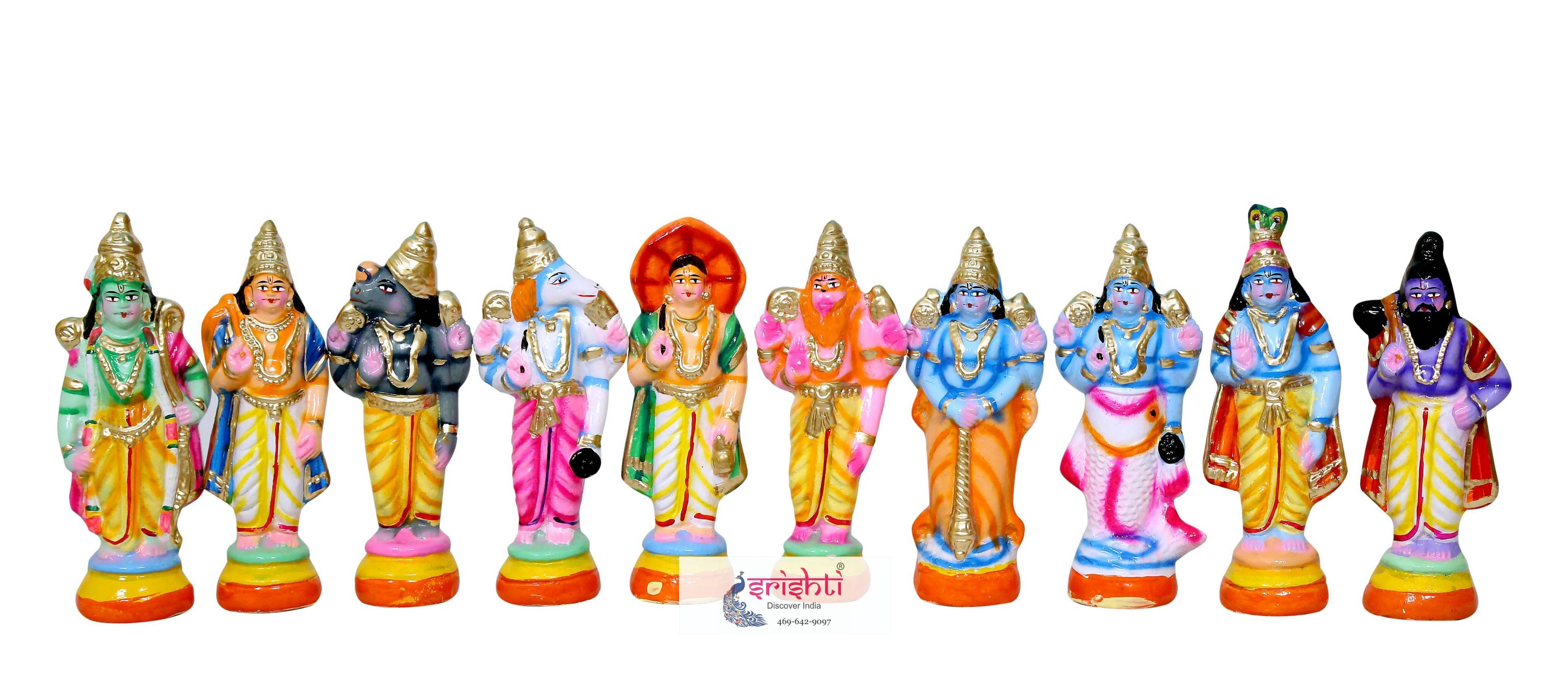 SNPD-Dasavatharam Set-8.5 Inches