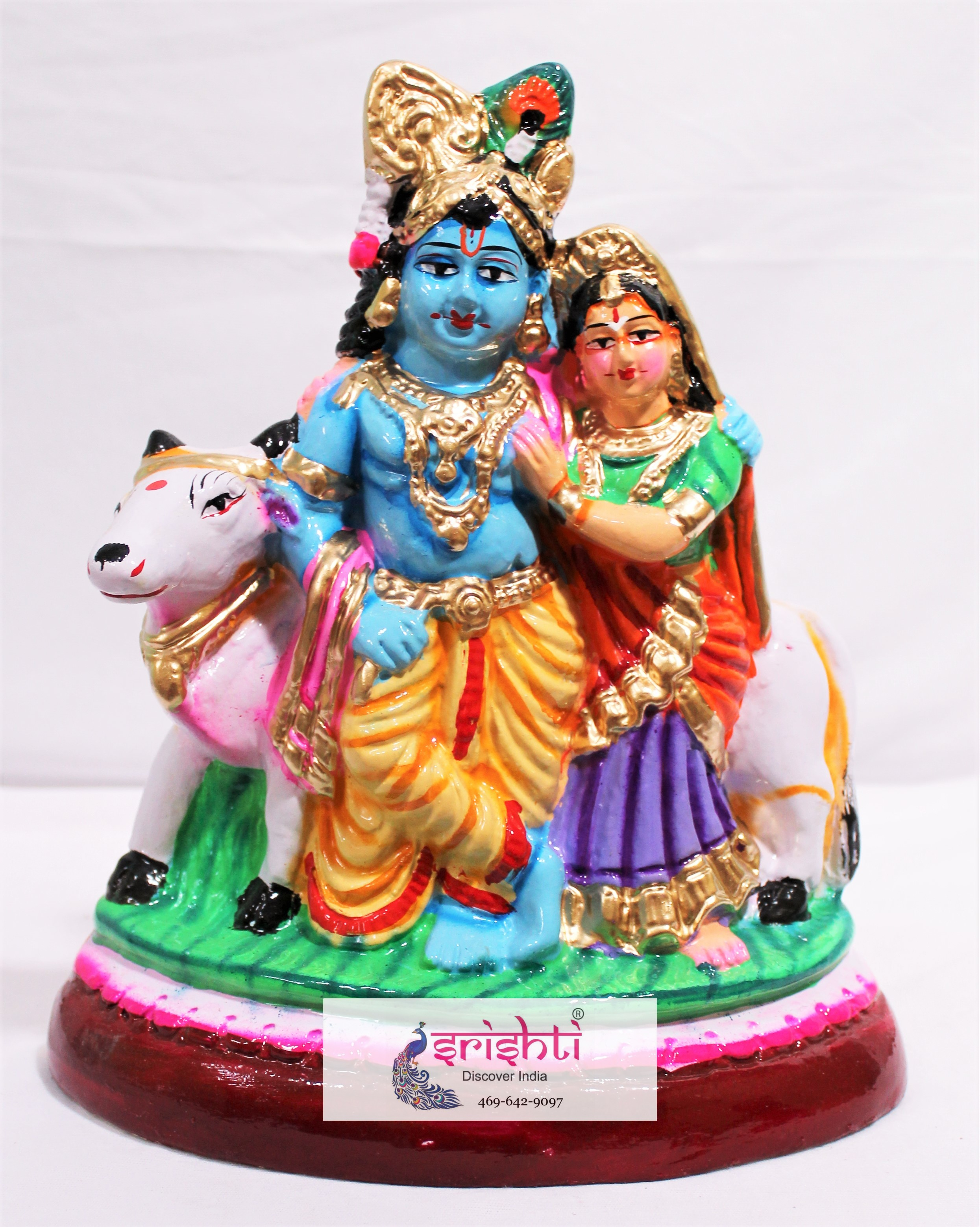 SNDP-Radha Krishna With Cow