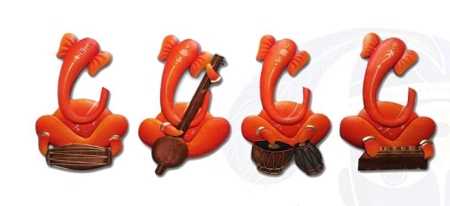 SMHD-Ganesha Musician (Orange) USA & CANADA