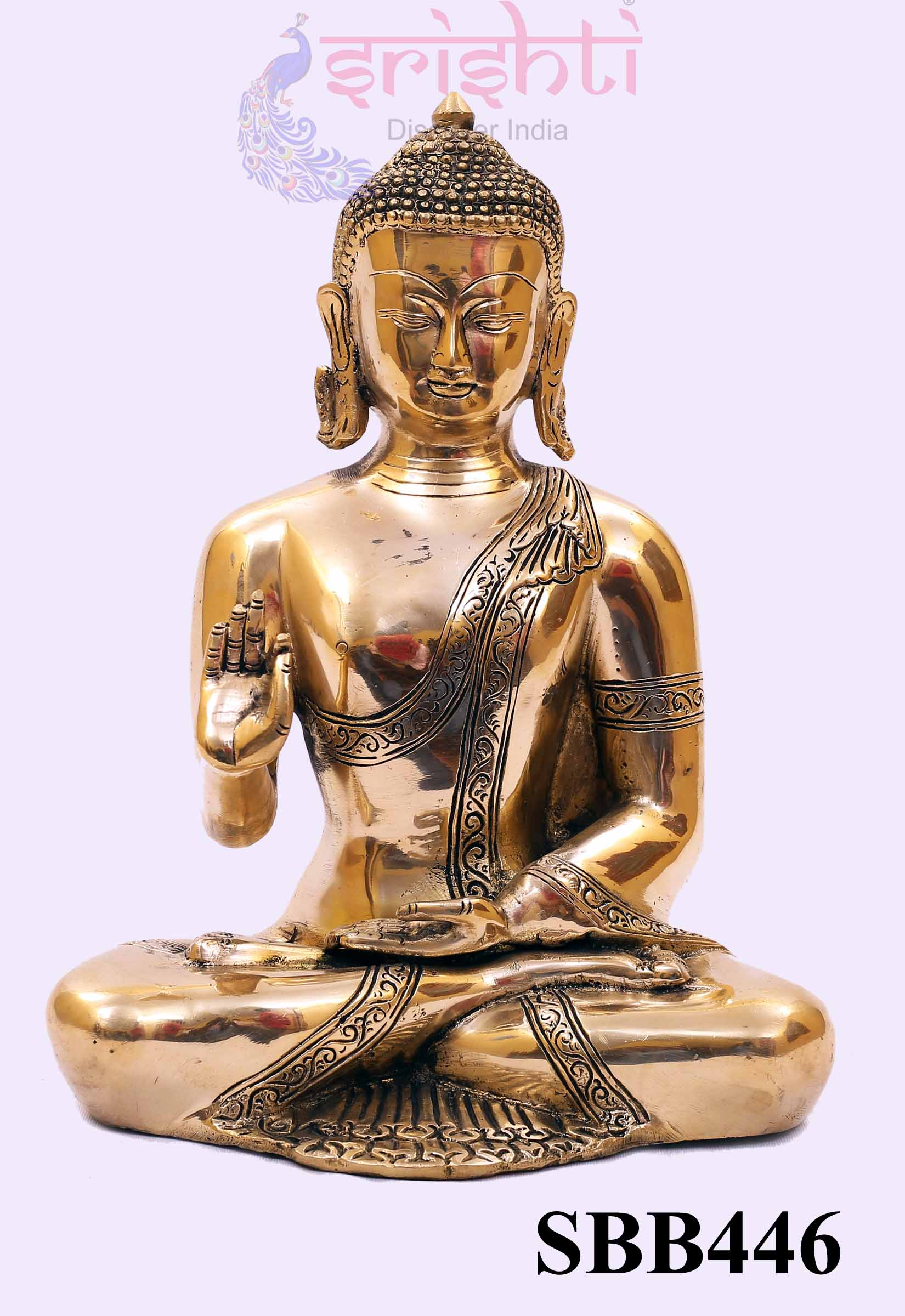 SSBU-Brass Buddha-12.5 Inches