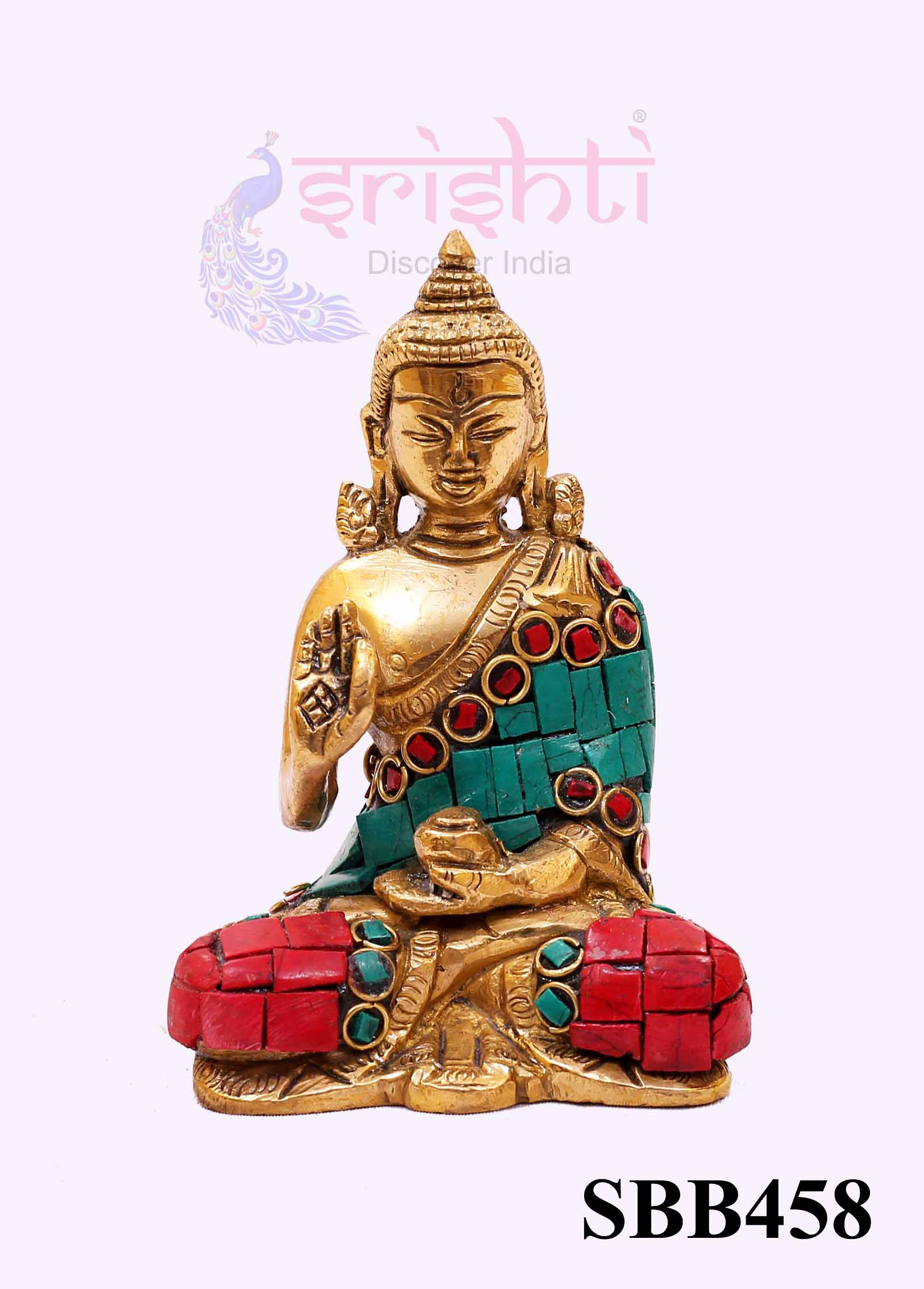 SSBU-Brass Decor Buddha-4 Inches