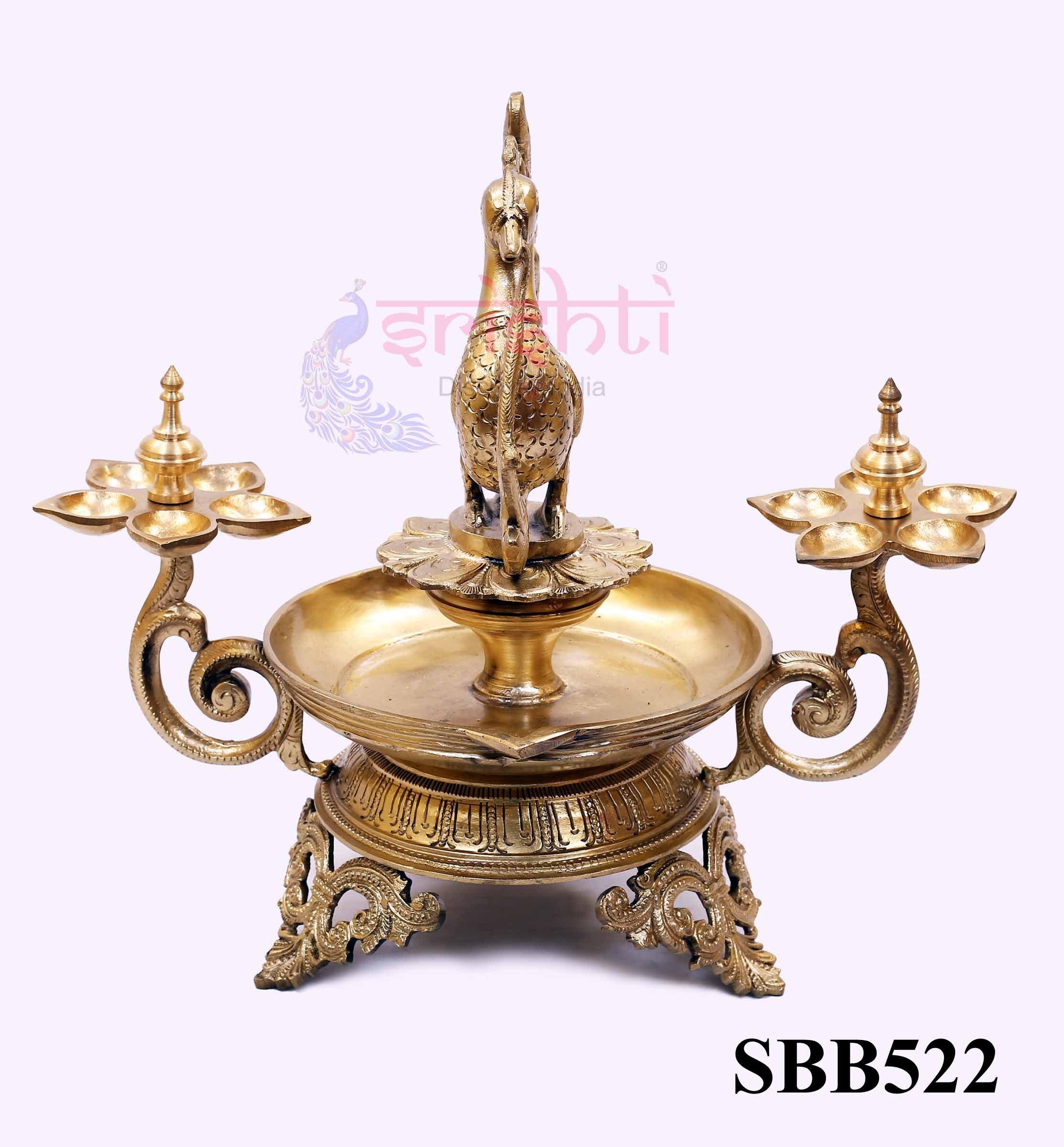 SSBU-Brass Annam Diya with Stand-13 Inches