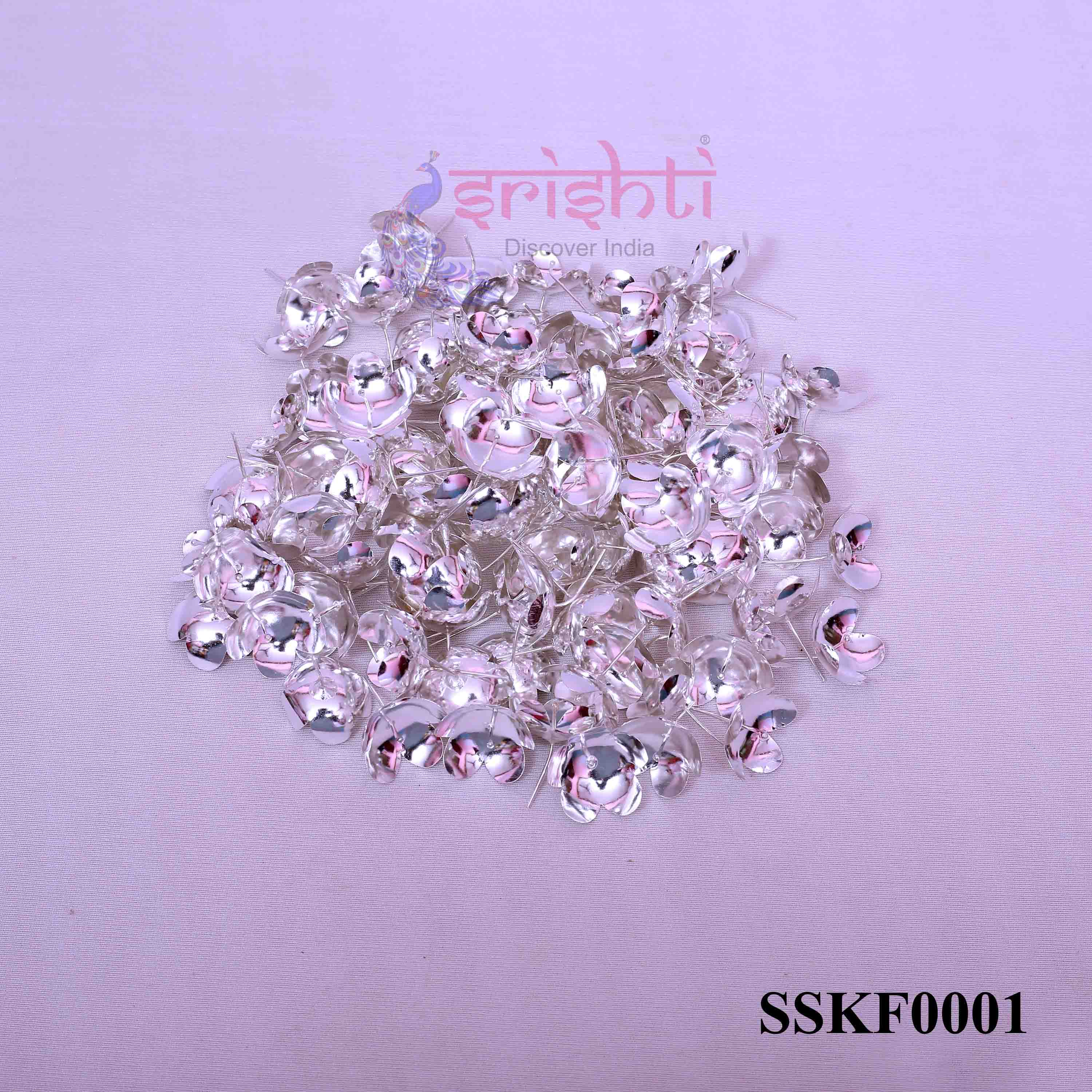SSSD-Pure Silver Archana Flowers-Pack of 110-M01
