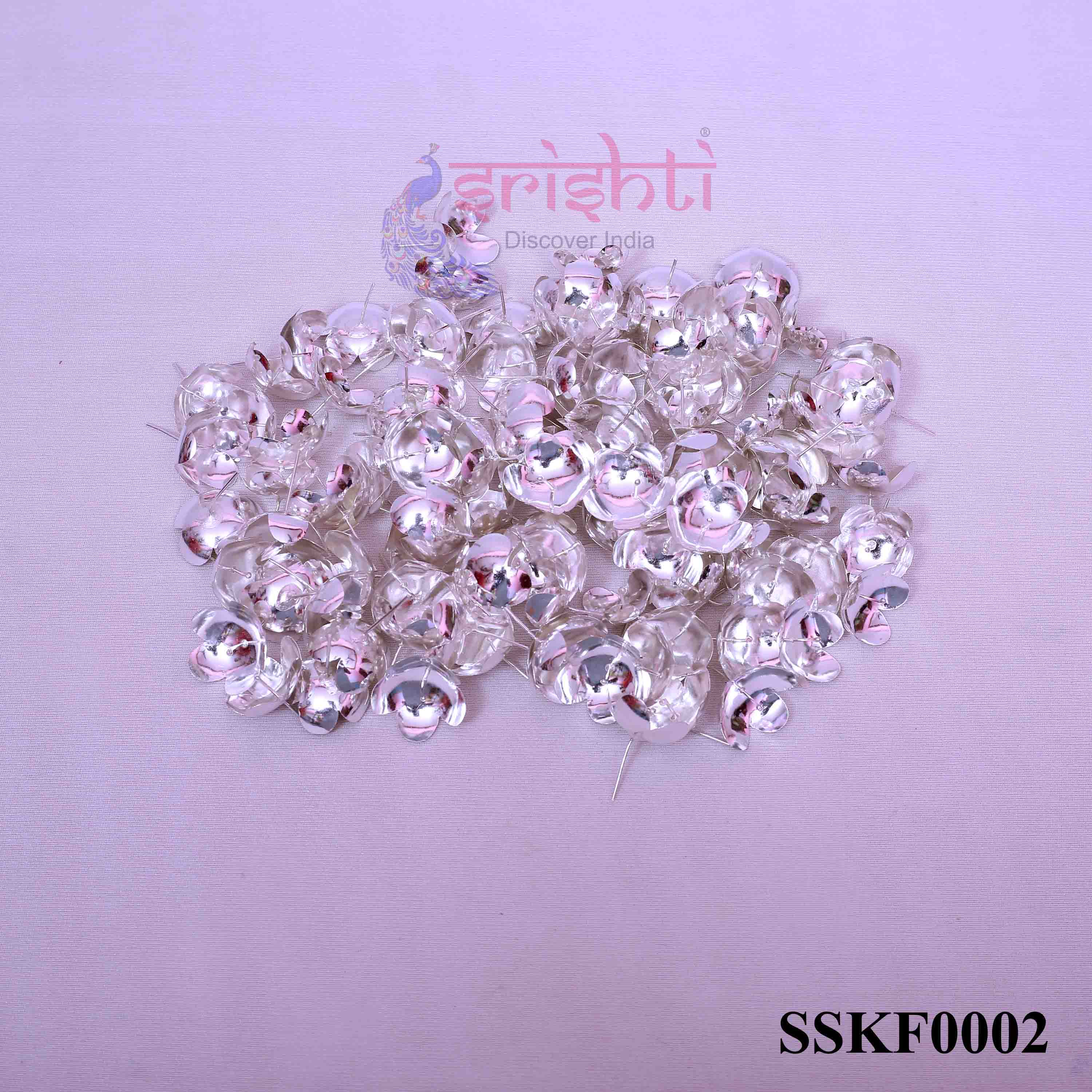 SSSD-Pure Silver Archana Flowers-Pack of 110-M02