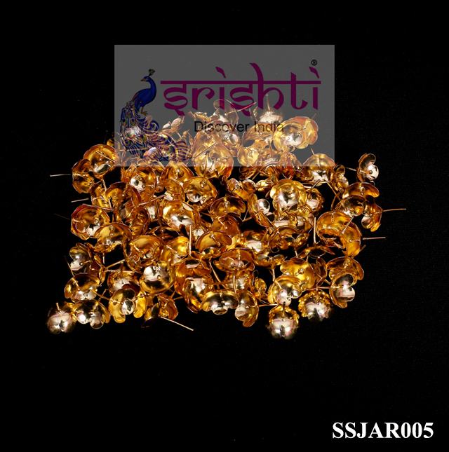 SSSG-Pure Silver Archana Flowers Gold Coated (Pack of 108)-M01