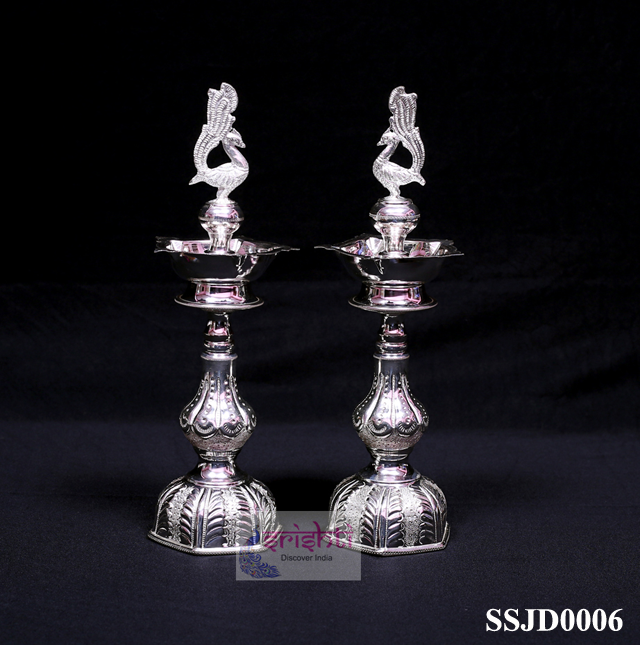 SSSG-Pure Silver Annam Kuthuvilakku Pair-318 Gms