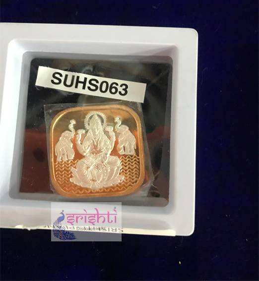 SSSD-Pure Silver Gold Lakshmi Locket
