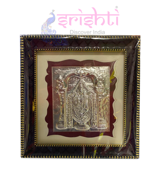 SSSD-Silver Lord Balaji Photo Frame-5.5 Inches