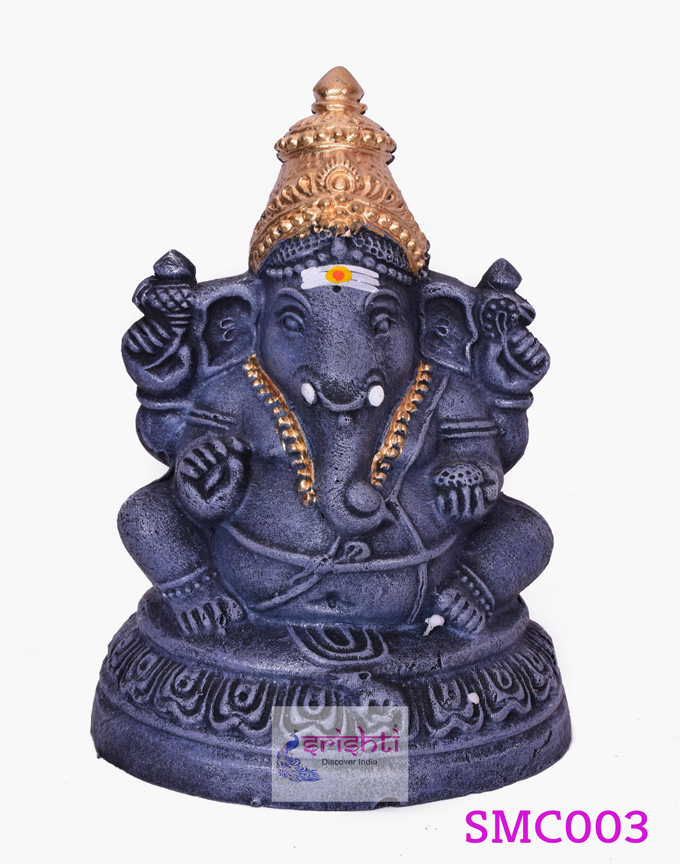 SMVC-Eco-Friendly Clay Ganesha-8 Inches