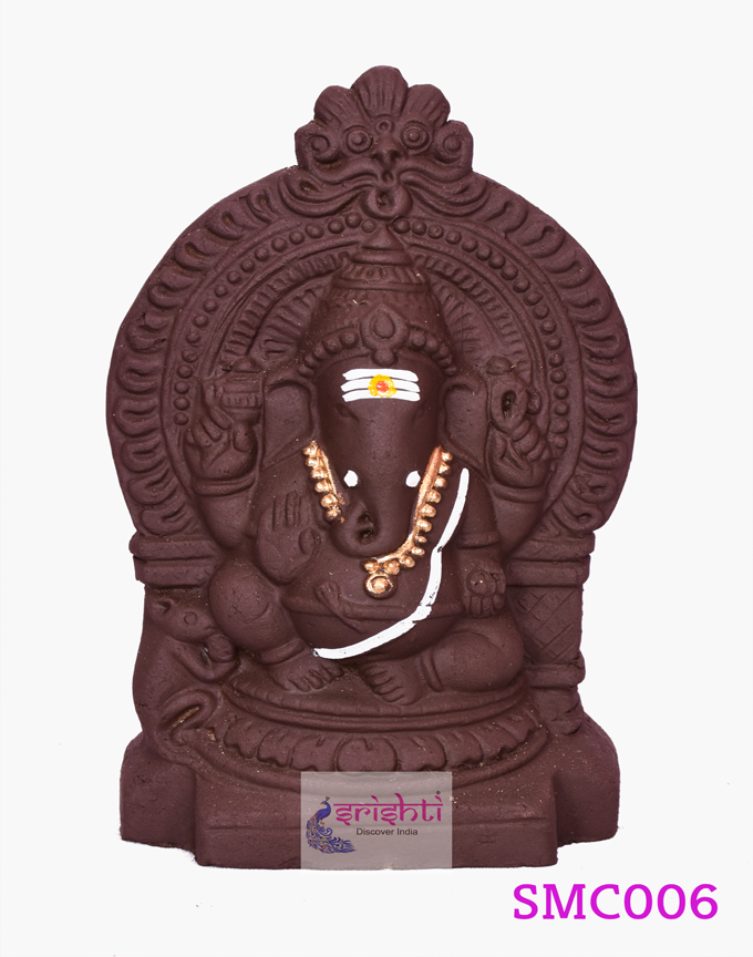 SMVC-Eco-Friendly Clay Arch Ganesha-6 Inches