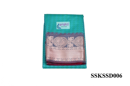 SSKS-Kanjeevaram Silk Saree with Blouse-M06 USA & CANADA