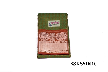 SSKS-Kanjeevaram Silk Saree with Blouse-M10 USA & CANADA