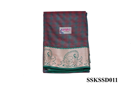 SSKS-Kanjeevaram Silk Saree with Blouse-M11 USA & CANADA