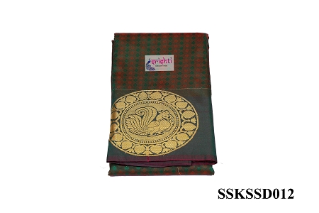 SSKS-Kanjeevaram Silk Saree with Blouse-M12 USA & CANADA
