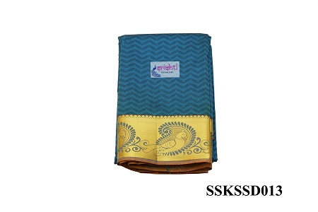 SSKS-Kanjeevaram Silk Saree with Blouse-M13 USA & CANADA