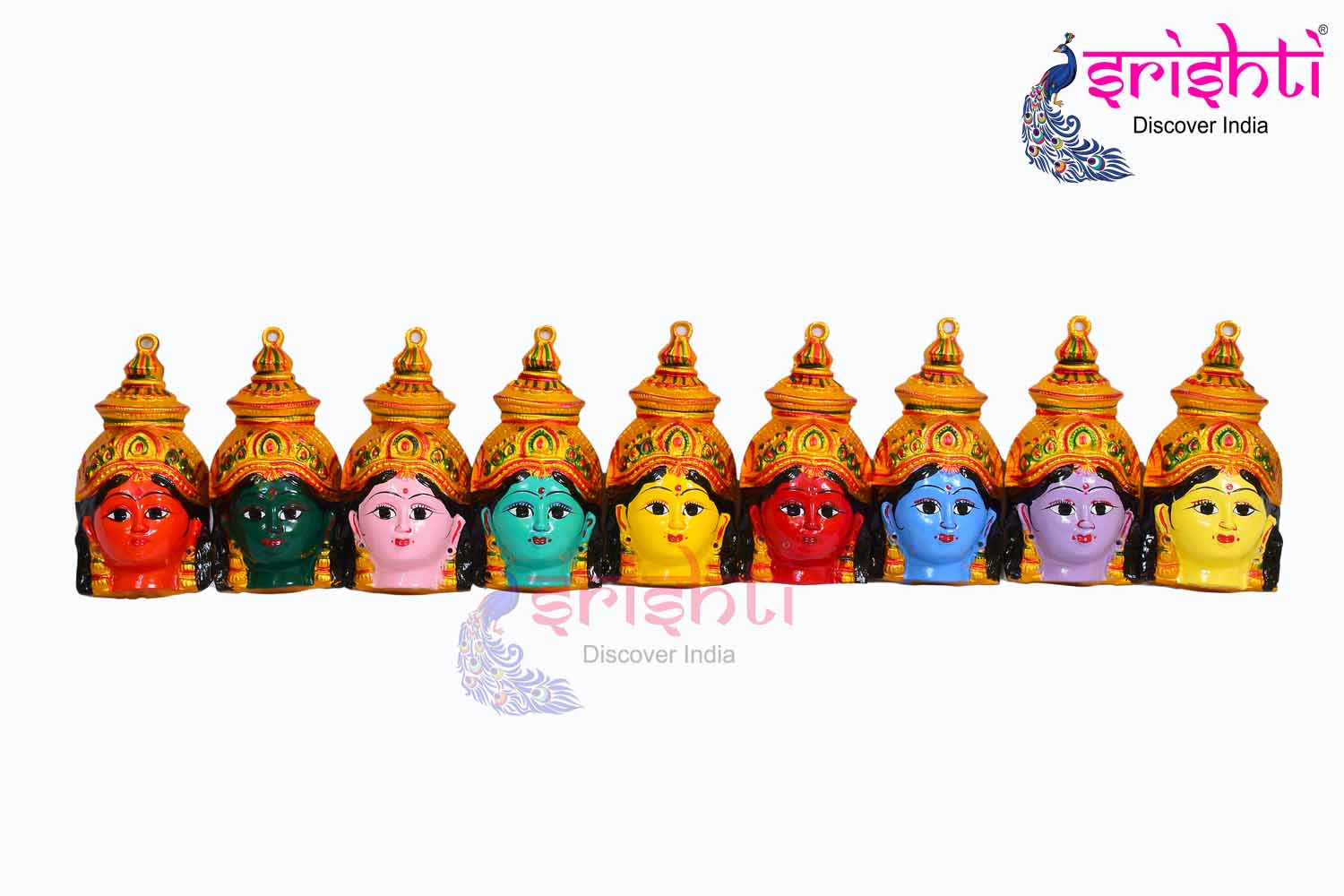 SMMC-Varalakshmi Amman Face 9 Color Set-6 Inches