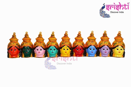 SMMC-Varalakshmi Amman Face 9 Color Set-6 Inches USA & CANADA