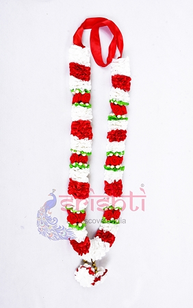 SCSA-Artificial Garland-White with Red USA & CANADA