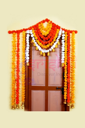 SHDP-Artificial Marigold Strings Entrance Door Hanging Set-M01 USA & CANADA