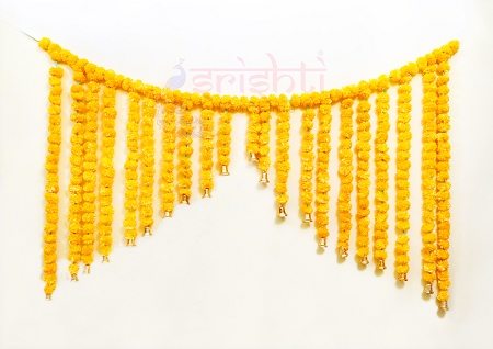 SHDP-Artificial Marigold Strings Entrance Door Hanging Set-M03 USA & CANADA