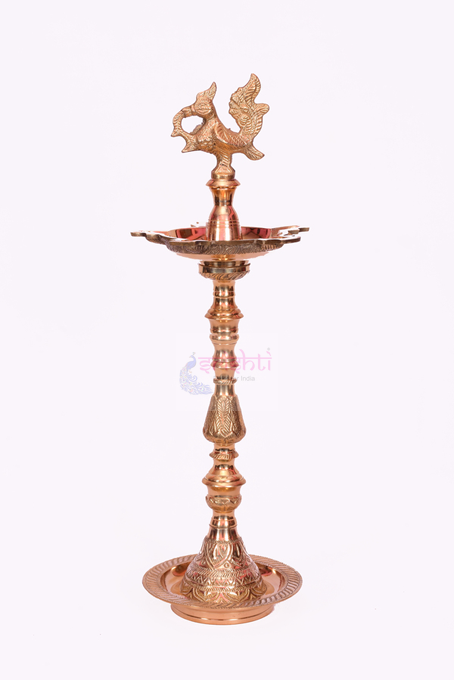 SSBU-Brass Ornamental Kuthuvilakku-19 Inches