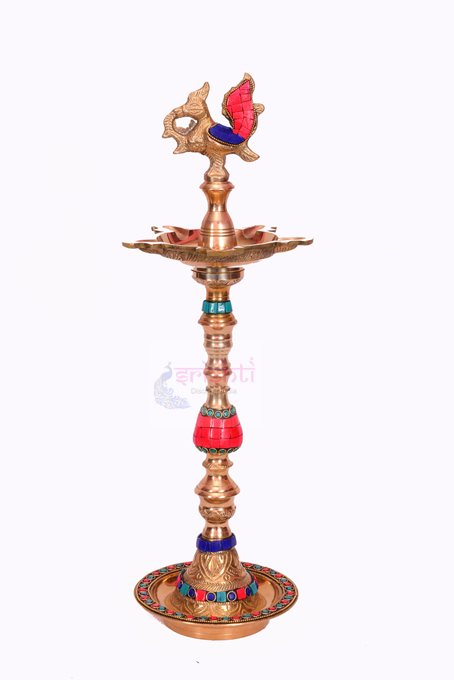 SSBU-Brass Ornamental Decor Kuthuvilakku-19 Inches