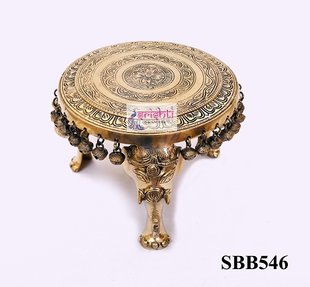 SSBU-Brass Elephant Pedestal with Bell-6 Inches USA & CANADA