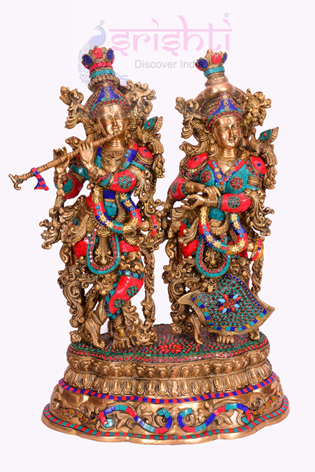 SSBU-Brass Radha Krishna-29 Inches USA & CANADA