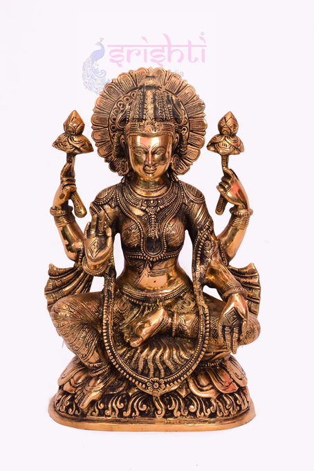 SSBU-Brass Lakshmi-16 Inches USA & CANADA