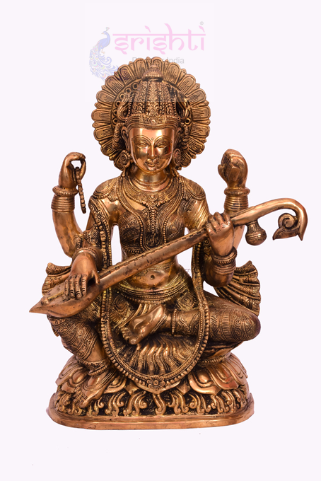 SSBU-Brass Saraswathy-17 Inches USA & CANADA