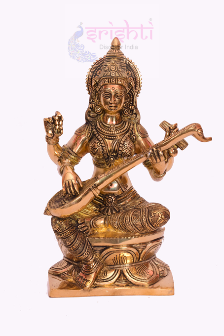 SSBU-Brass Saraswathy-13 Inches USA & CANADA