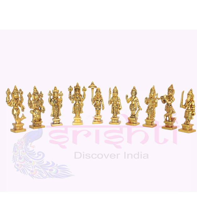 SSBU-Brass Dasavatharam Set-3.5 Inches USA & CANADA