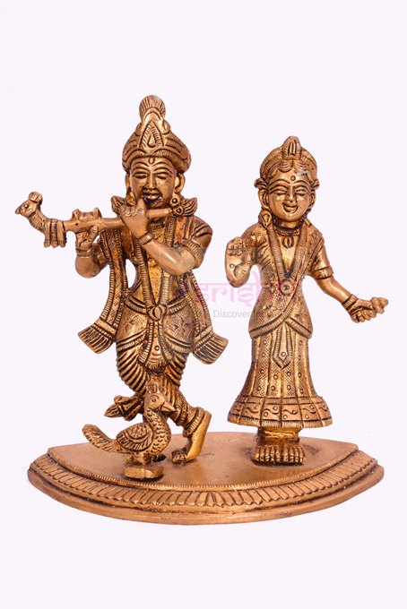 SSBU-Brass Radha Krishna-5.5 Inches USA & CANADA