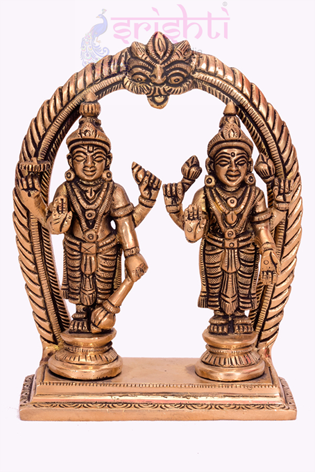 SSBU-Brass Maha Vishnu-5 Inches USA & CANADA