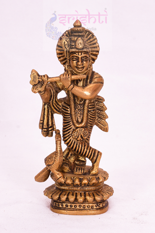 SSBU-Brass Krishna-5 Inches USA & CANADA