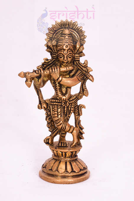 SSBU-Brass Krishna-4.5 Inches USA & CANADA