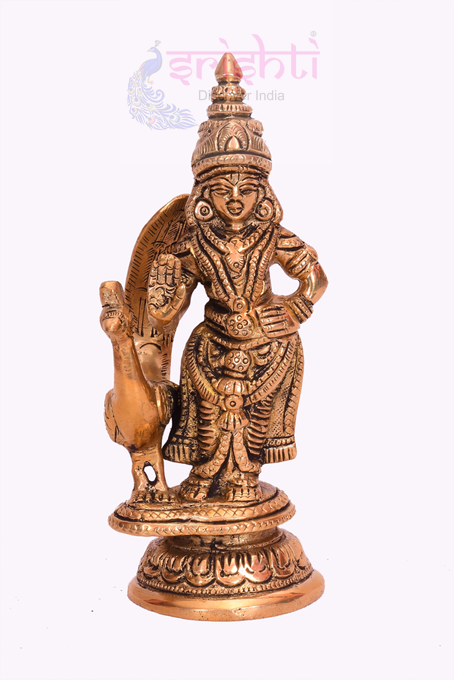 SSBU-Brass Muruga-6 Inches USA & CANADA