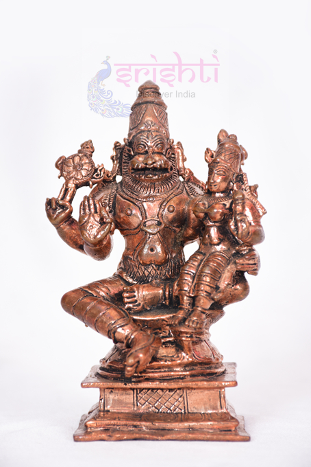 SSBU-Antique Copper Narasimha-4.5 Inches USA & CANADA
