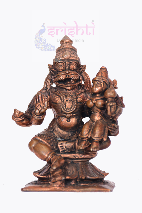 SSBU-Antique Copper Narasimha-3 Inches USA & CANADA