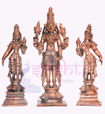 SSBU-Antique Copper Perumal,Sridevi & Boodevi USA & CANADA
