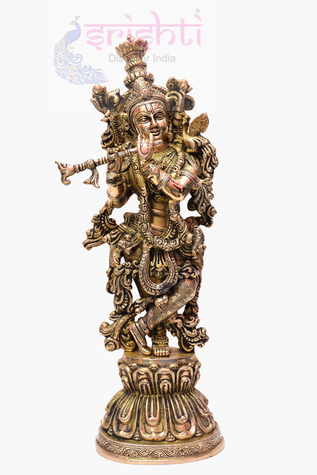 SSBU-Brass Krishna-21 Inches USA & CANADA